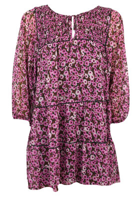 Rochie BSK Floral Pink