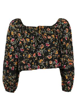 Bluza Bershka Floral Black