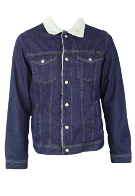 Geaca blugi Jack and Jones Victor Dark Blue