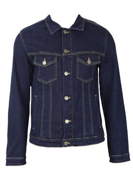 Geaca blugi Jack and Jones Nick Dark Blue
