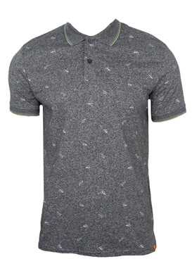 Tricou polo Jck and Jo Kaled Dark Grey