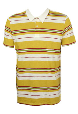 Tricou polo Jck and Jo Ted Dark Yellow