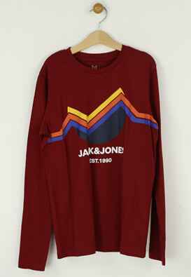 Bluza Jack and Jones Dennis Dark Red