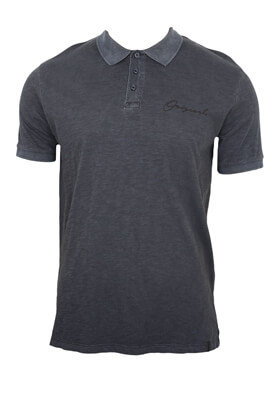 Tricou polo Jck and Jo Will Dark Grey