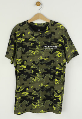 Tricou Jack and Jones Kaled Dark Green