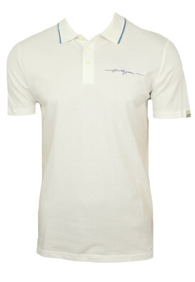 Tricou polo Jck and Jo Ken White