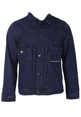 Geaca blugi Jack and Jones Elias Dark Blue