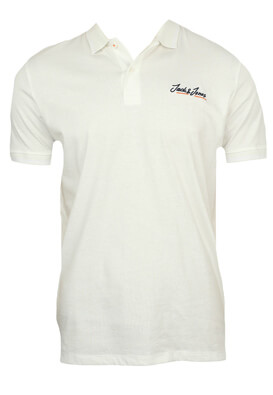 Tricou polo Jck and Jo Freddy White