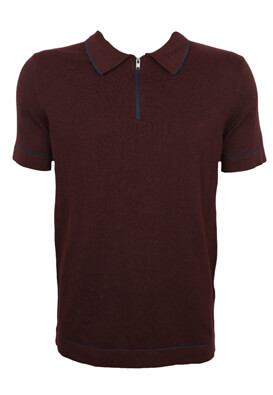 Tricou polo Selected Don Dark Purple