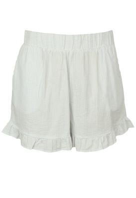 Pantaloni scurti Pieces Rita White