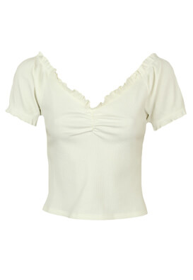 Tricou Pieces Donna White