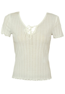 Tricou Pieces Samantha White