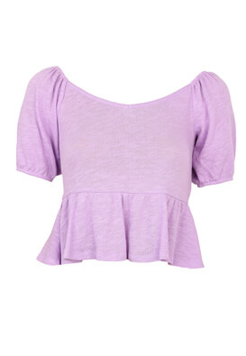 Tricou Pieces Evelyn Light Purple