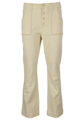 Pantaloni Pieces Keira Light Beige
