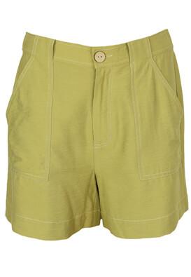 Pantaloni scurti YAS Irene Light Green