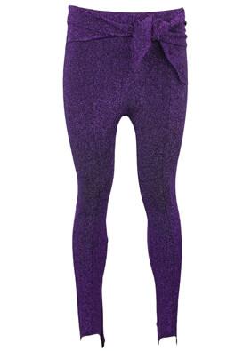 Pantaloni Bershka Nicole Dark Purple