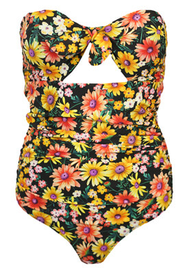 Costum de baie ZARA Floral Colors