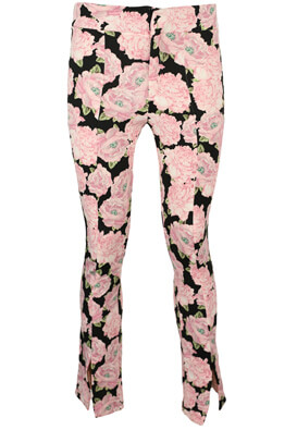 Pantaloni ZARA Floral Light Pink