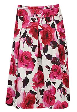 Fusta Orsay Floral Dark Pink