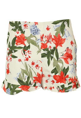 Pantaloni scurti ZRA Floral White