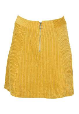 Fusta Pull and Bear Amber Yellow