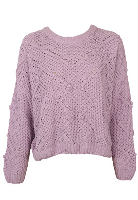 Pulover Pull and Bear Amber Light Purple