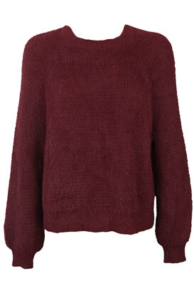 Pulover Pull and Bear Odette Dark Purple