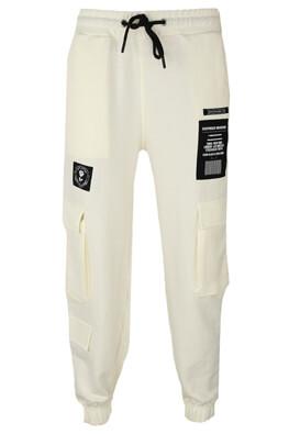 Pantaloni sport Bershka Katia White