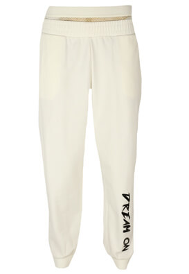 Pantaloni sport Bershka Lucy White