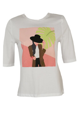 Tricou Only Irene White