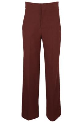 Pantaloni ZARA Elle Dark Red
