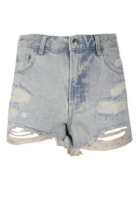 Pantaloni scurti Bershka Aimee Light Blue