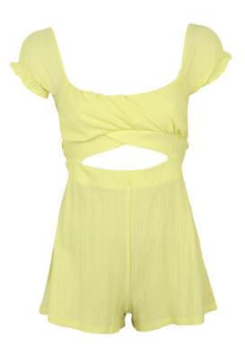 Salopeta Bershka Victoria Yellow