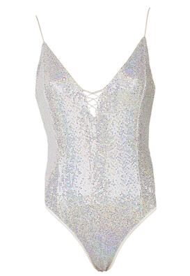 Body Bershka Summer Silver