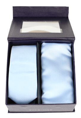 Set cravata cu batista Pier One Brandon Light Blue