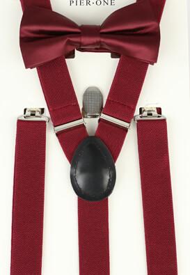 Set papion cu bretele Pier One Edwin Dark Red