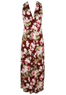 Rochie Orsay Floral Dark Red