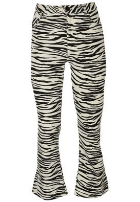 Blugi Bershka Zebra White