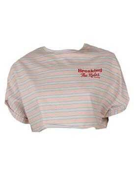 Tricou Bershka Abbie Light Pink