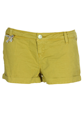 PANTALONI SCURTI STRADIVARIUS SIMETTE DARK YELLOW