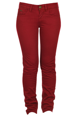 PANTALONI STRADIVARIUS PONDO DARK RED