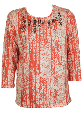 BLUZA PULL AND BEAR DICE RED