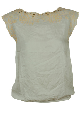 TRICOU PULL AND BEAR UTIL WHITE