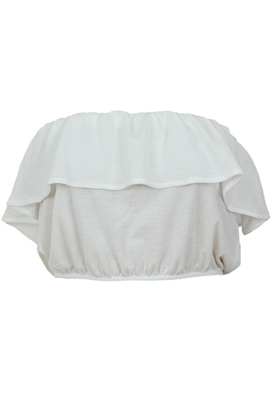 TOP PULL AND BEAR FILTER WHITE