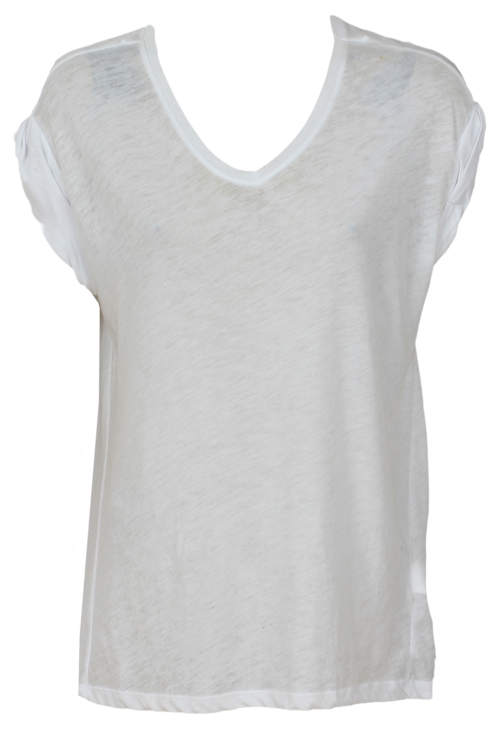 Tricou Pull and Bear Shaft White
