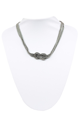 COLIER PULL AND BEAR BADDO SILVER