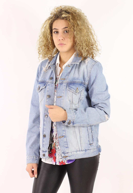 Geaca Blugi Asos Jeans Blue