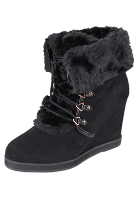 BOTINE PULL AND BEAR FANCY BLACK