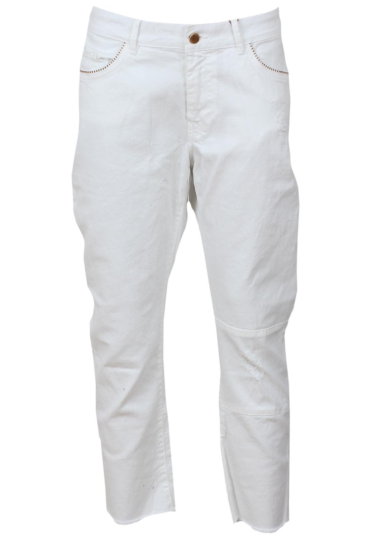 Pantaloni ZARA Pomotte White