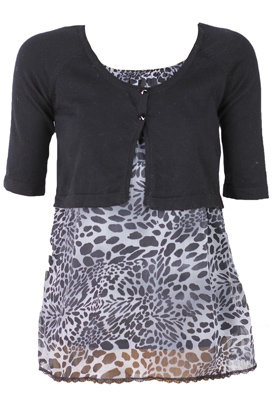 BLUZA MADE WITH LOVE GIRLY BLACK